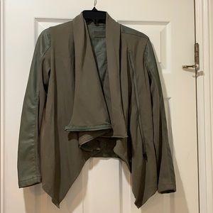 Green sweater jacket/coat